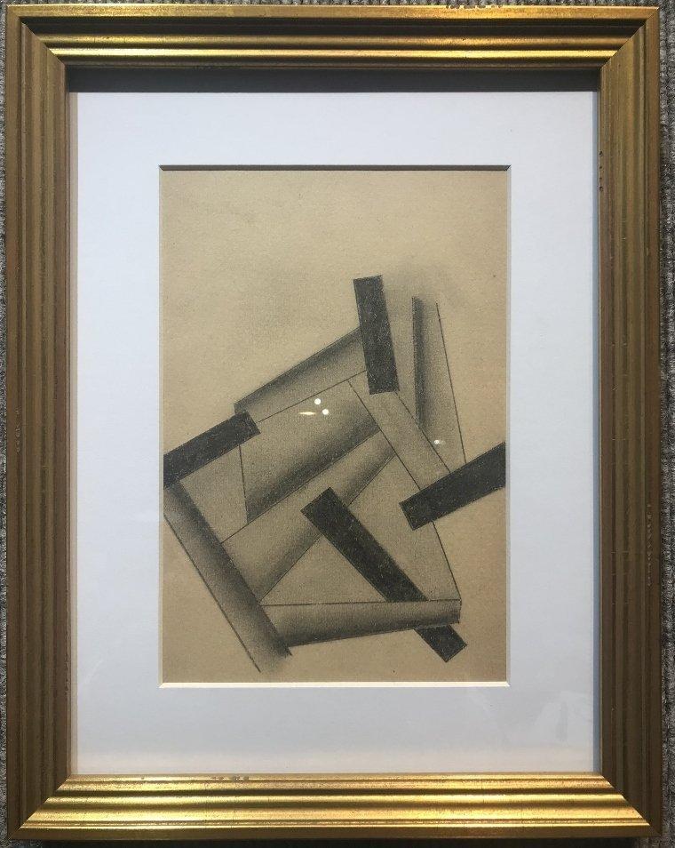 Supremacist drawing by Lyubov Popova, circa 1915