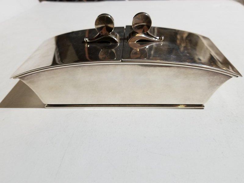 Georg Jensen silver box by Harald Nielsen, 17.54 t.oz - 2