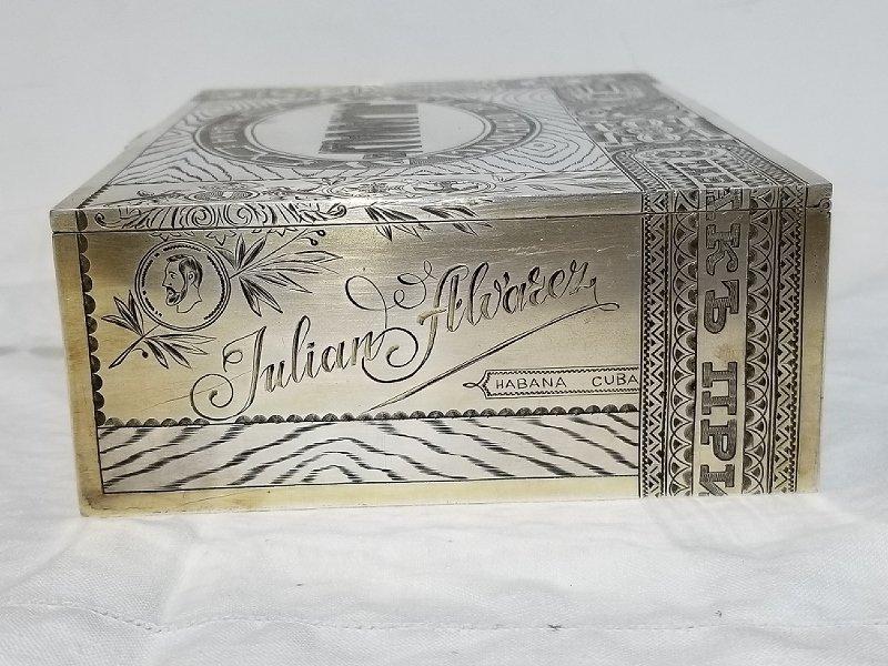 Russian silver trompe l'oeil Cuban cigar box, c.1915 - 3