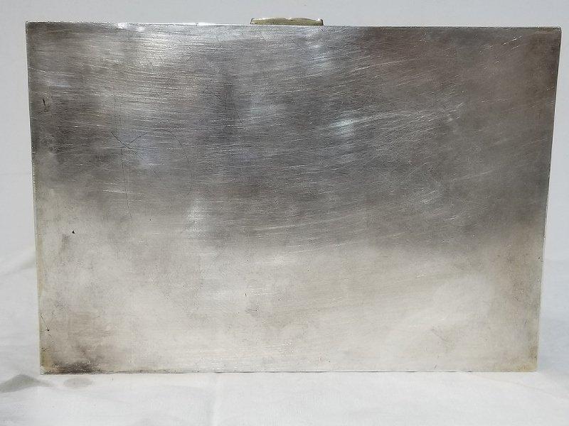 Russian silver trompe l'oeil Cuban cigar box, c.1915 - 4