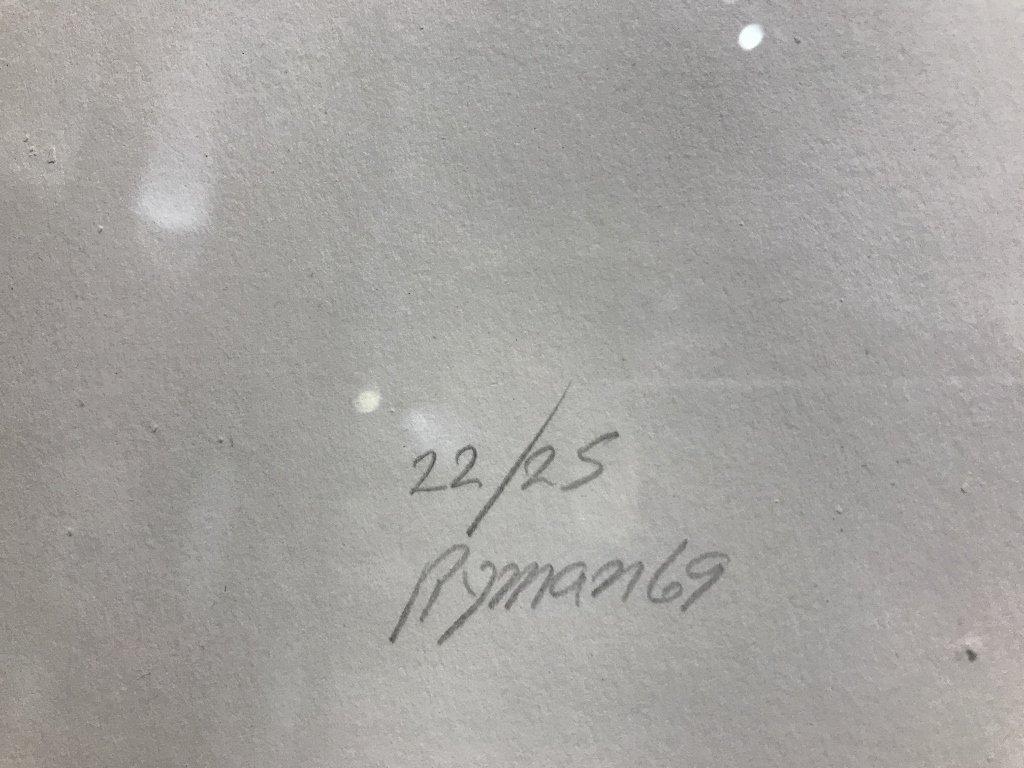 Silkscreen by Robert Ryman-Whitney Museum - 2