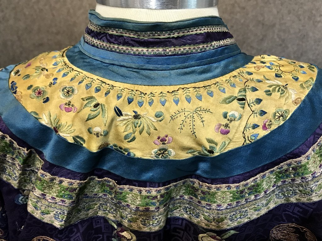 Chinese silk embroidered robe, c.1850 - 6