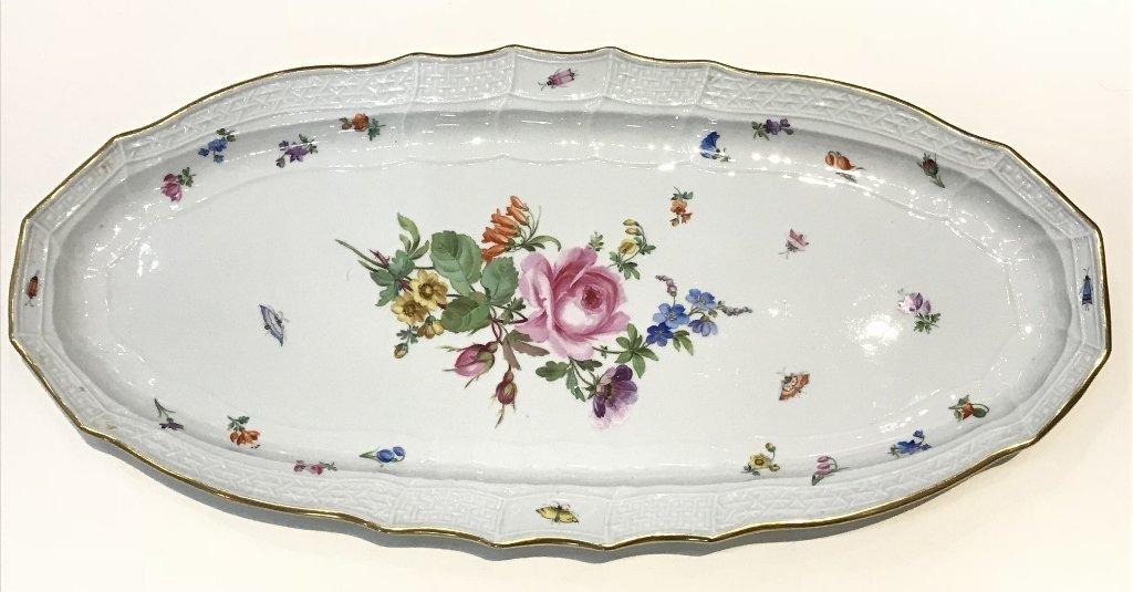"""Meissen large platter, 21"""" wide,circa 1930"""