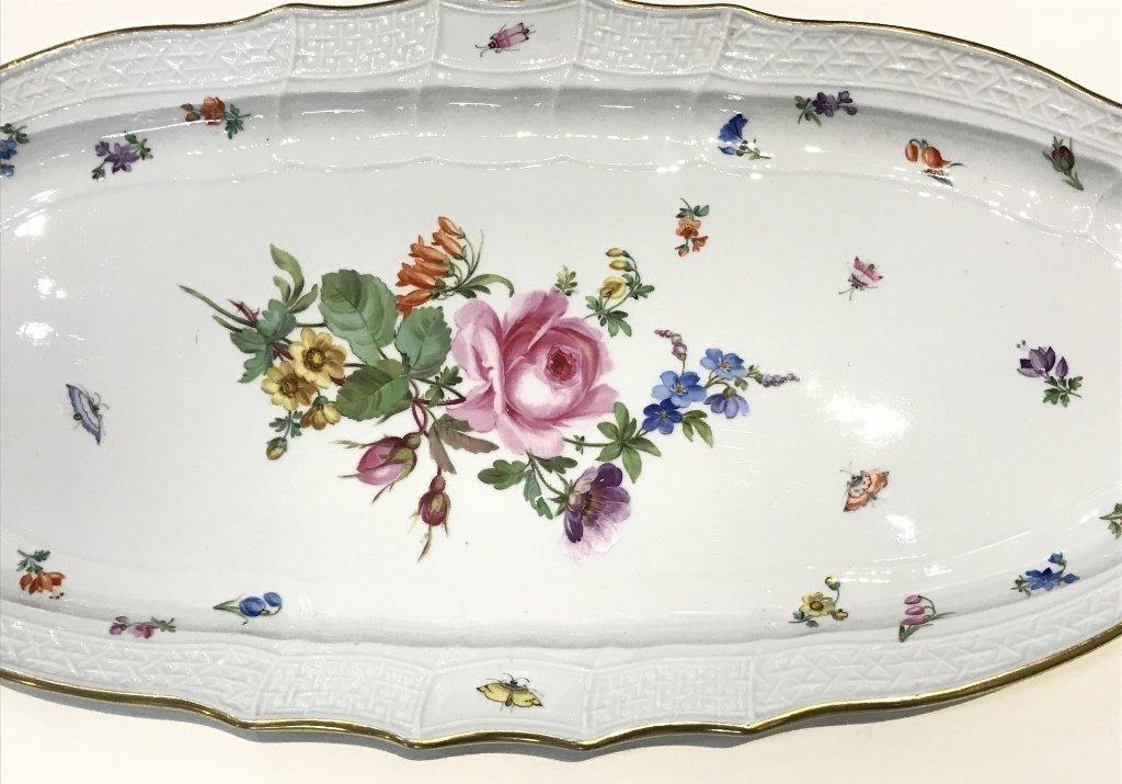 """Meissen large platter, 21"""" wide,circa 1930 - 2"""