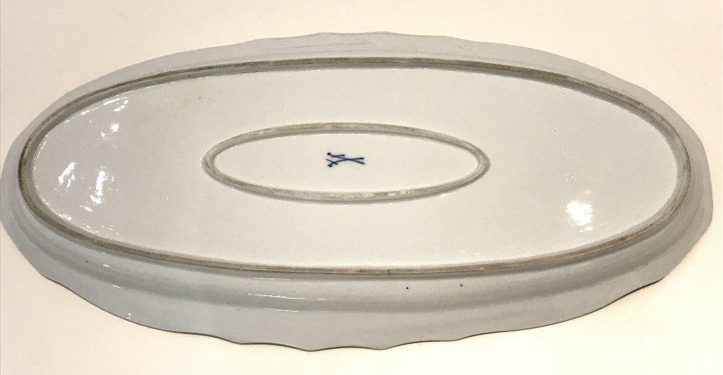 """Meissen large platter, 21"""" wide,circa 1930 - 3"""
