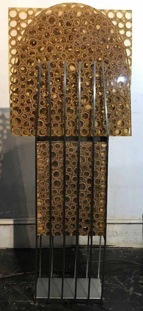 Unusual modern lamp, bamboo in resin, c.1965 - 2