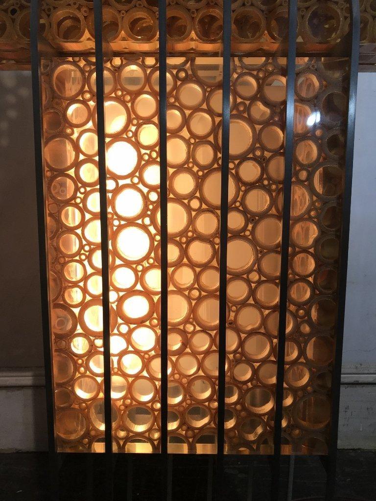 Unusual modern lamp, bamboo in resin, c.1965 - 3