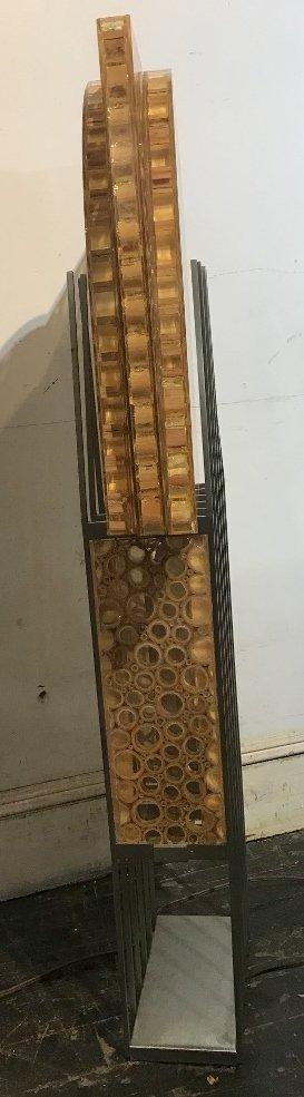 Unusual modern lamp, bamboo in resin, c.1965 - 6