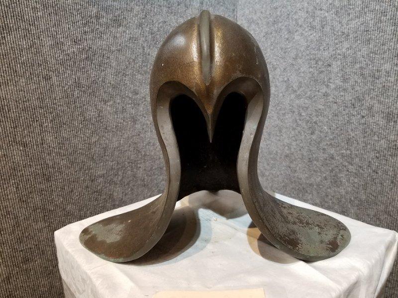 """Bronze """" helmut """" sculpture by Ronald Street"""