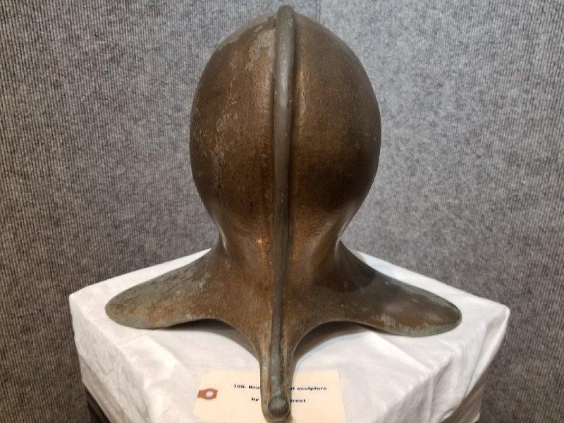 """Bronze """" helmut """" sculpture by Ronald Street - 2"""