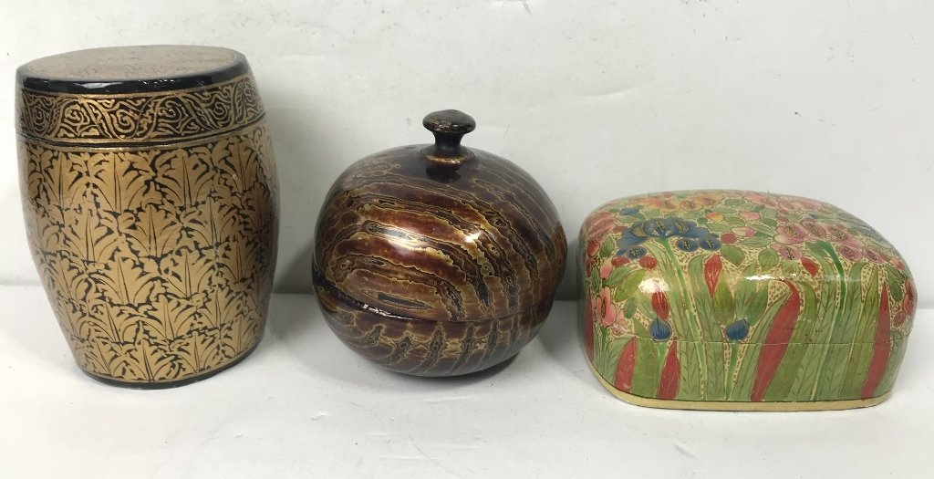 Miscellaneous Indian lacquer items - 2