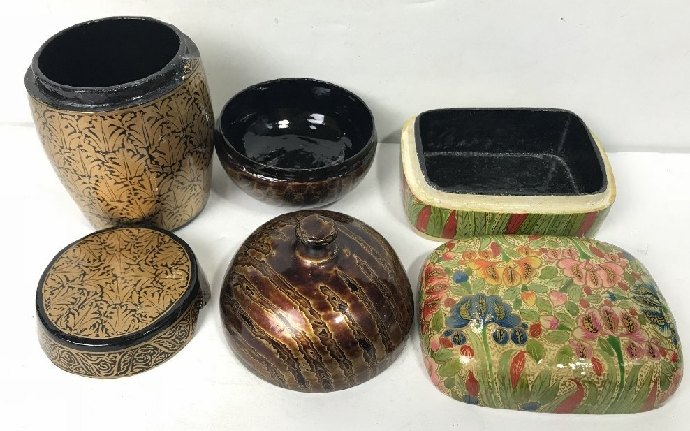 Miscellaneous Indian lacquer items - 3