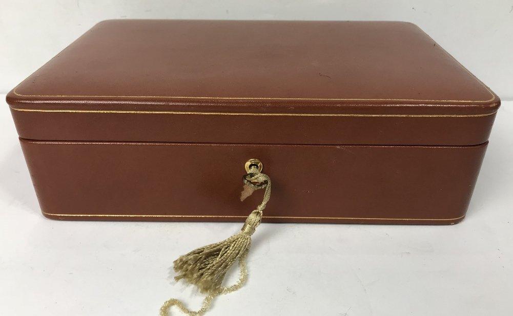 Bergdorf Goodman leather jewelry box