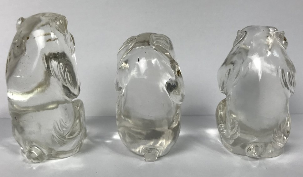 """Hear no Evil"" crystal monkeys - 3"
