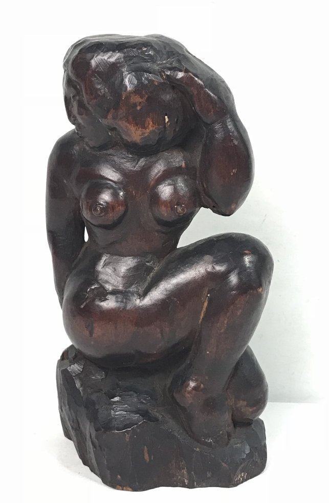 Wood carving, nude, 1930's