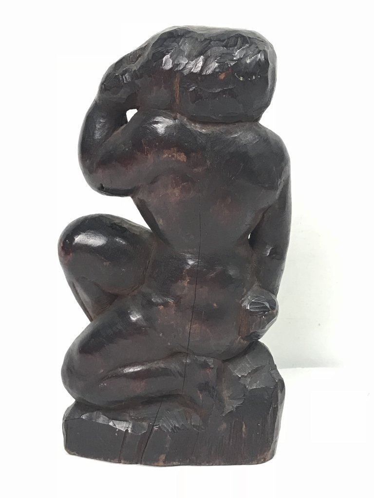 Wood carving, nude, 1930's - 3