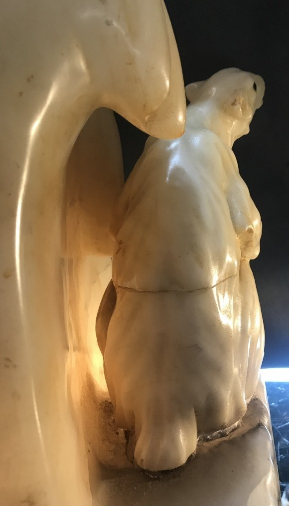 Alabaster polar bear lamp, circa 1930 - 8