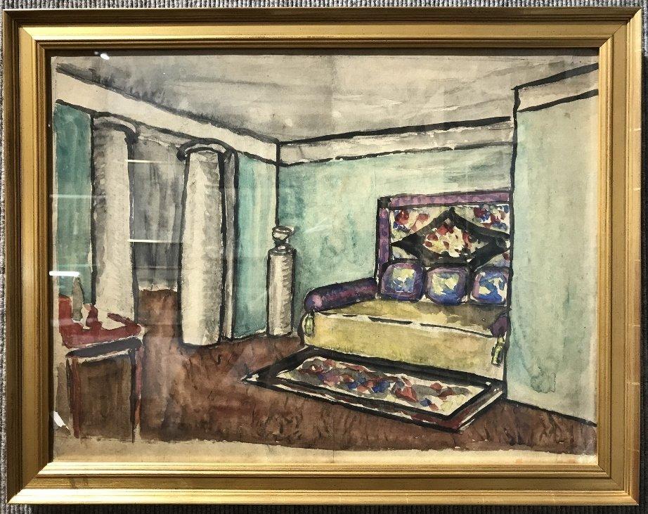 Watercolor, room interior by Sudeikin(Ambassador)