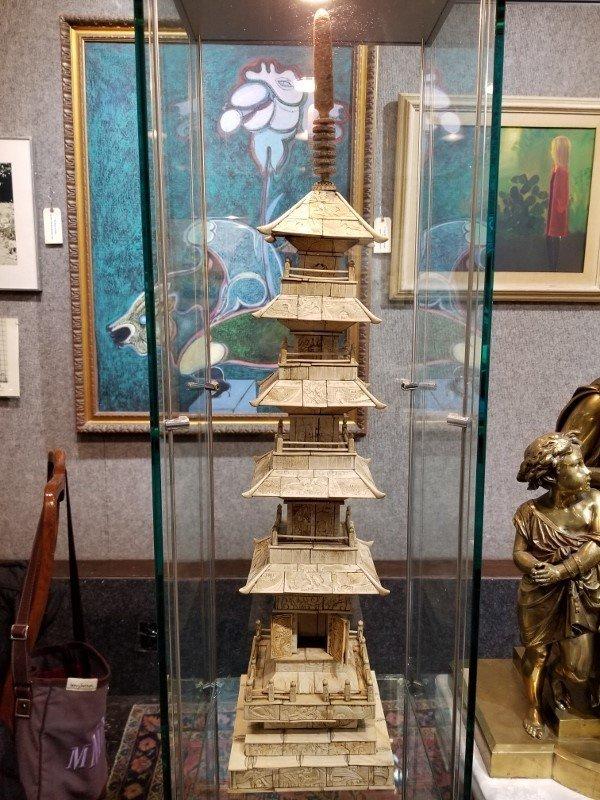 Large animal bone temple, Chinese, c.1900