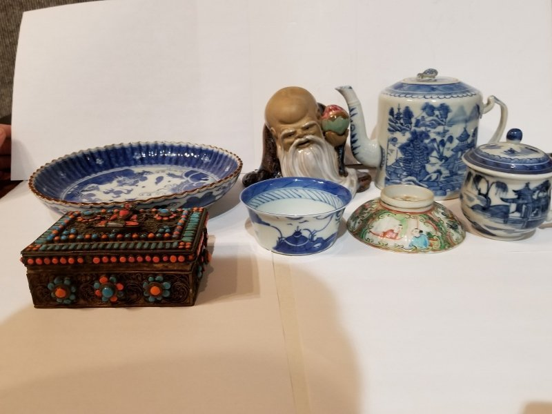Miscellaneous Chinese items with Shou Xin Gong