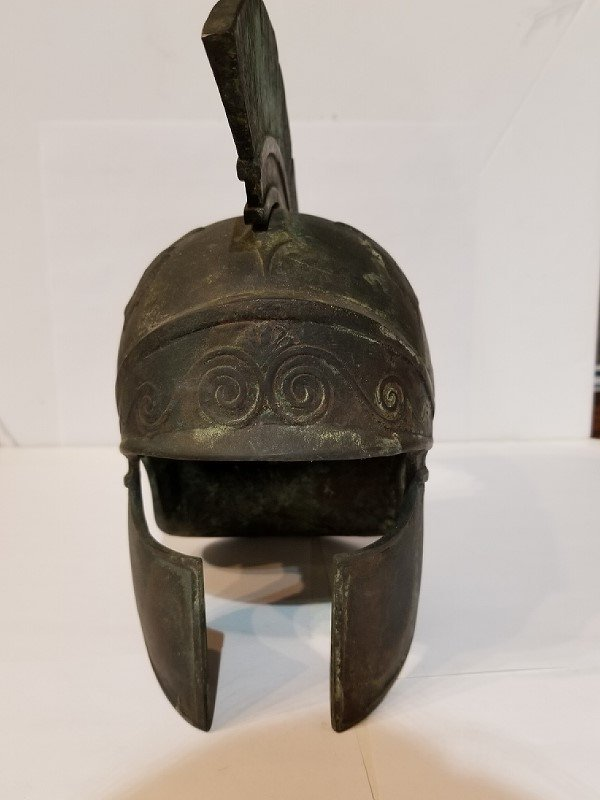 Grand Tour bronze Roman helmet, c.1930