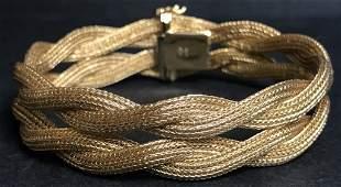 """18k """"woven"""" gold bracelet, Italian marks, 19.4 dwts"""