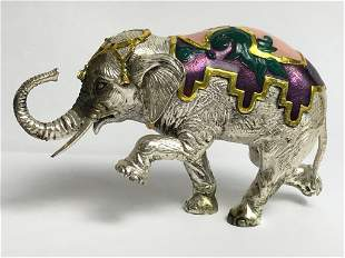 Rare Tiffany & Co sterling elephant by Gene Moore