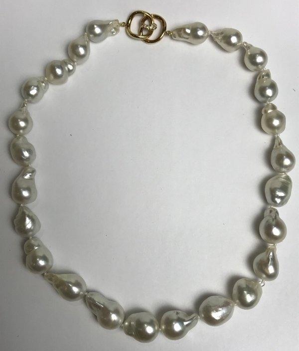 Angela Cummings Australian South Sea pearl dia necklace