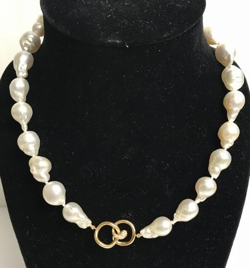 Angela Cummings Australian South Sea pearl dia necklace - 4