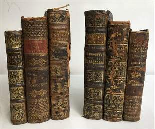 18th century books, made into bookends