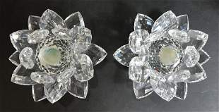 Two Swarovski water lilies in the box