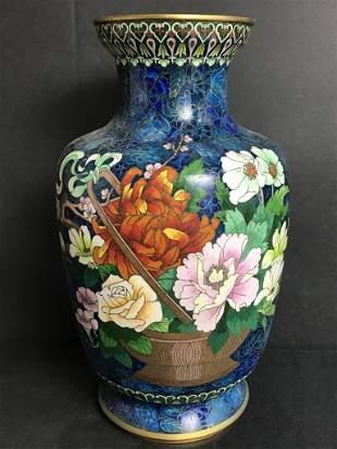 Chinese cloisonne vase, c.1975