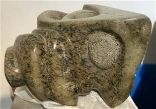 Green stone carving by Ronald Street,circa 1970