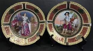 Pair of Royal Vienna plates, c.1900