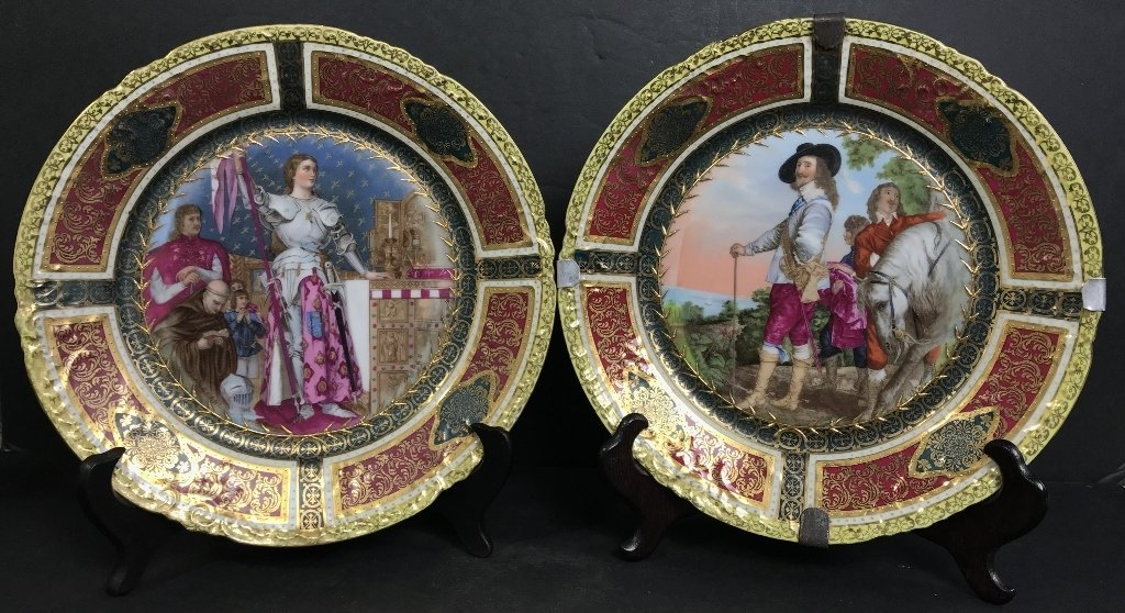 Pair of Royal Vienna plates, c.1900