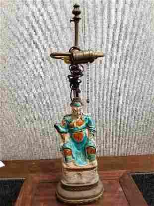 Chinese lamp, 19th century.