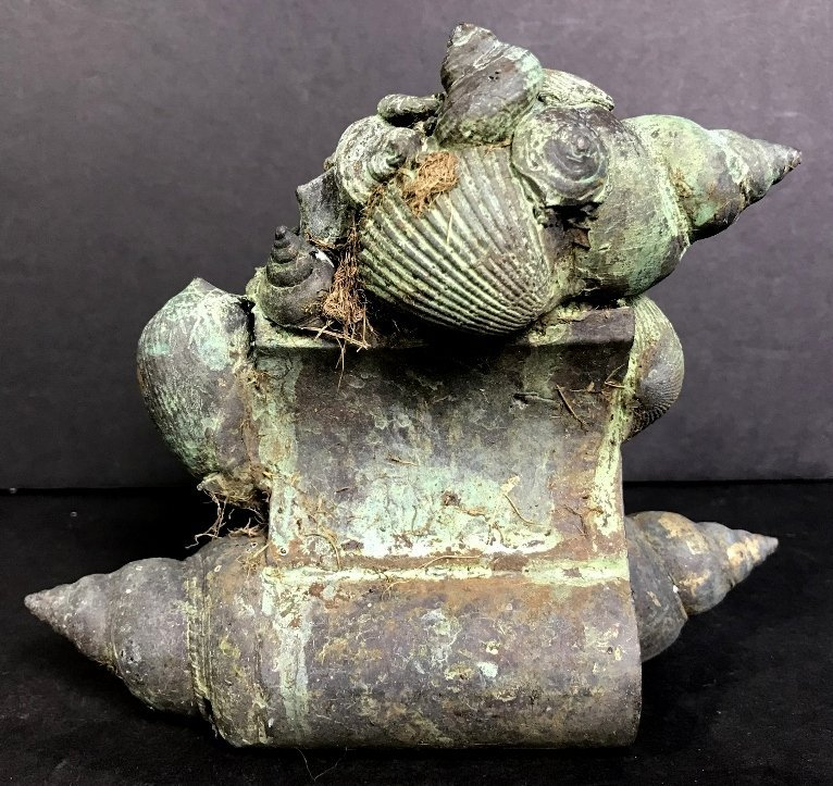Shell bronze by Ronald Street, circa 1970. - 3