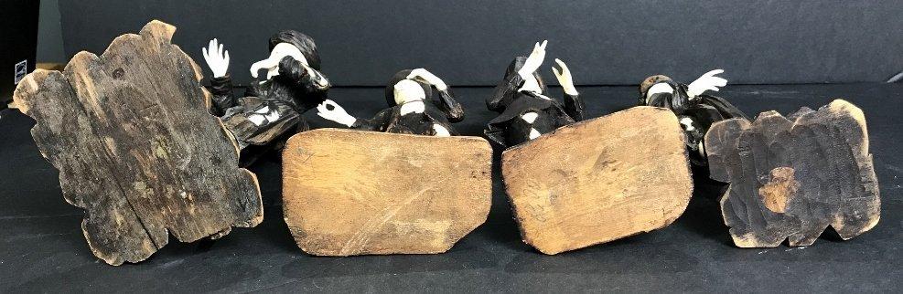 Wood and bone Simon Troger type peasants, c.1840 - 5