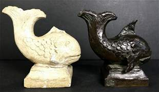 Fish bronze by Charles Cary Rumsey, jr dated 1924
