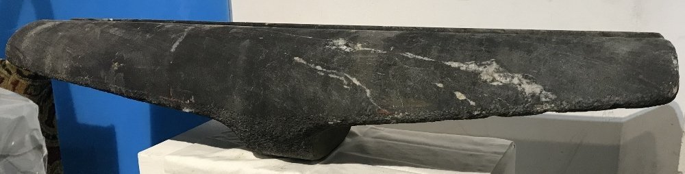 Horizontal stone sculpture by Ronald Street, circa 1970