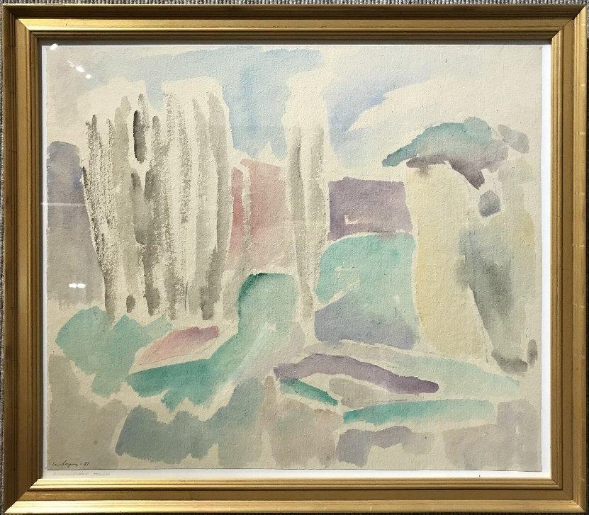 Watercolor of landscape by Yuri Larin-Ambassador