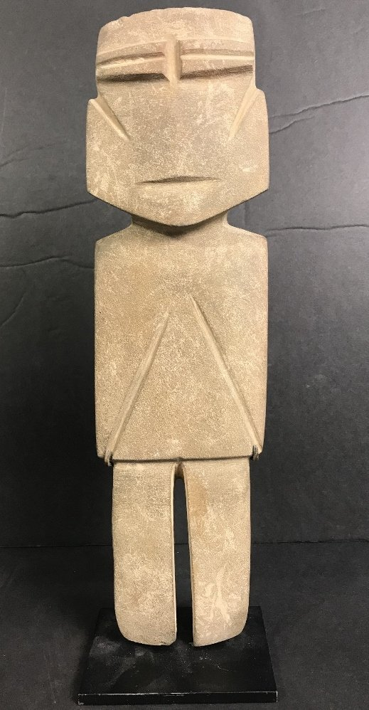 Carved stone figure, Hunt Fine Arts