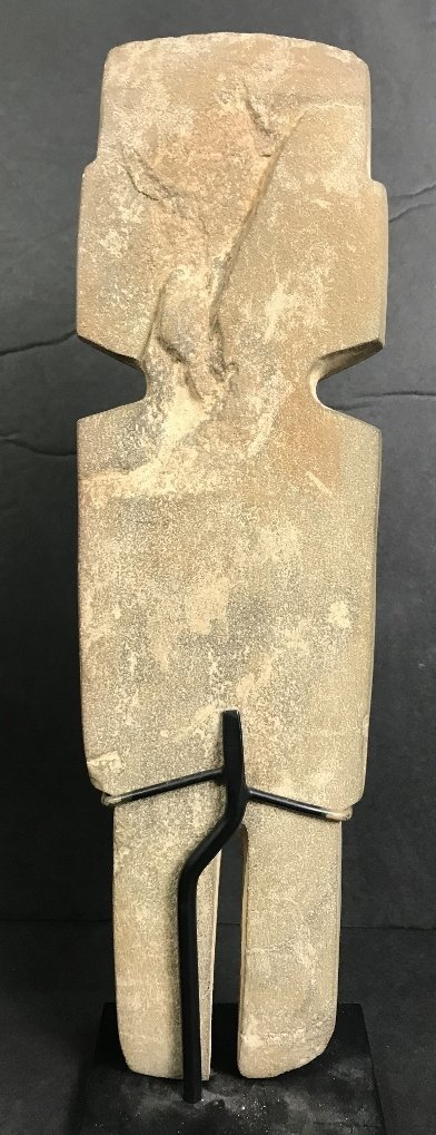 Carved stone figure, Hunt Fine Arts - 4