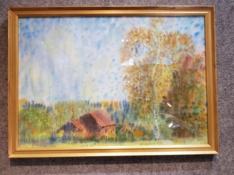 Watercolor by house by Boris Sveshnikov-Ambassador