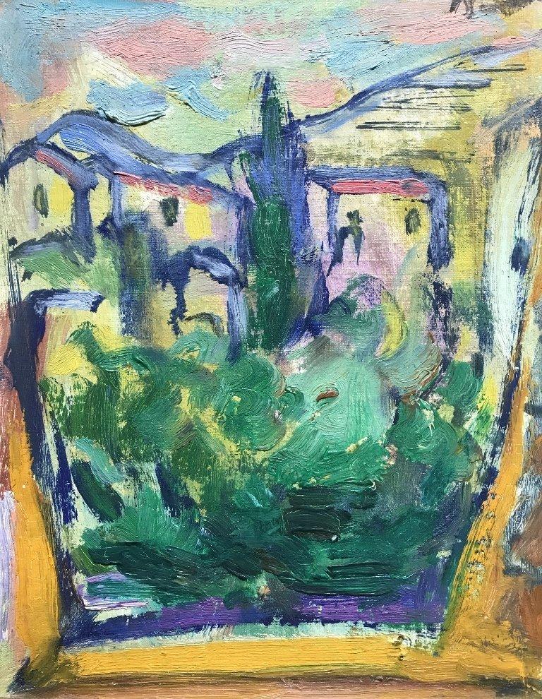 Abstracted landscape by Luigi Bartolini, circa 1940 - 2