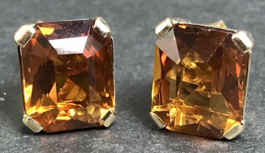 14k citrine earrings, 3.6 dwts - 2