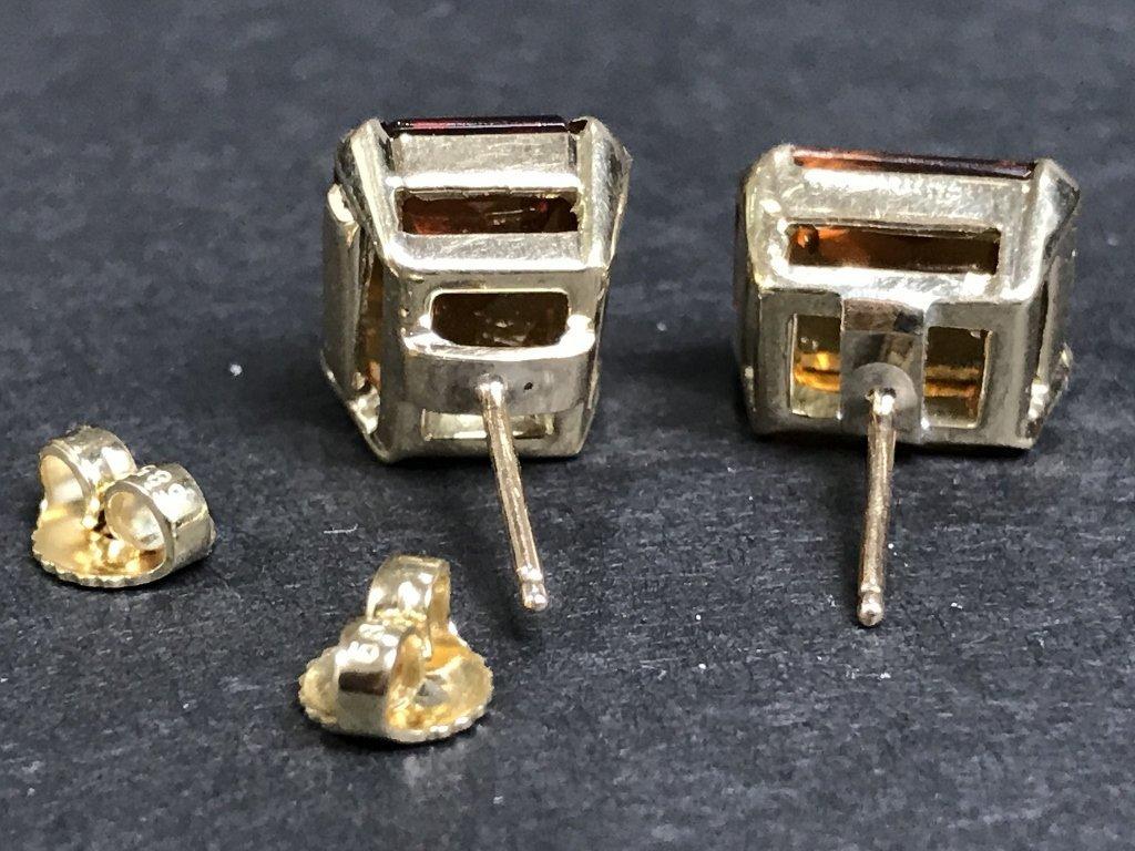 14k citrine earrings, 3.6 dwts - 3