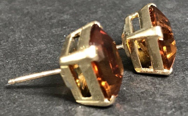 14k citrine earrings, 3.6 dwts - 4