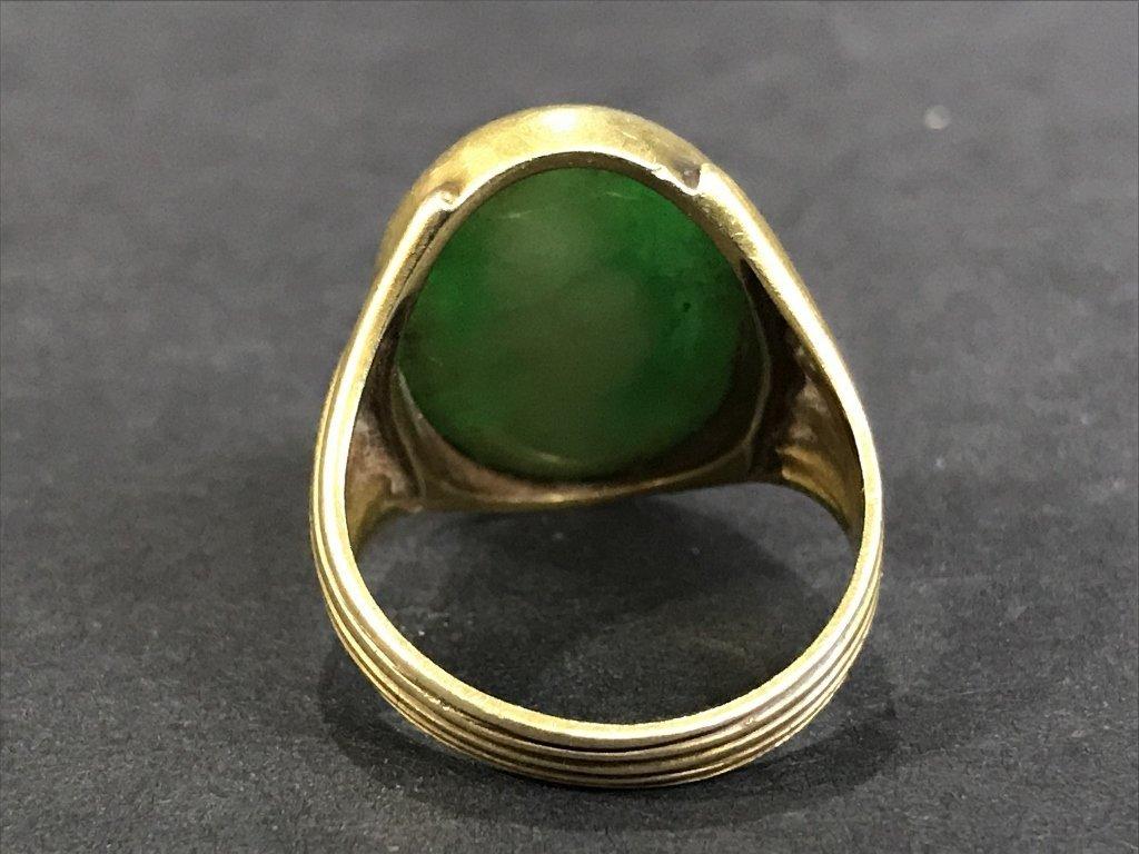 14k jade ring, 5.3 dwts, circa 1930. - 3