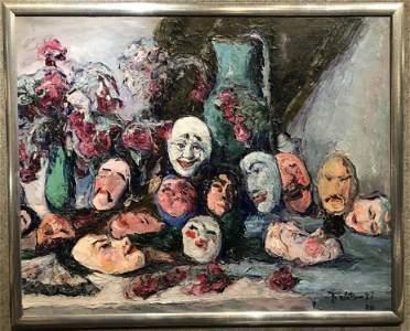 Painting by Wlodzimierz Terlikowski, Les Masques, 1920.